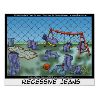 Recessive Jeans Funny Collecible Art Canvas Prints Print