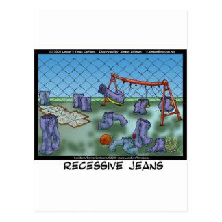 Recessive Jeans Funny Gifts Tees & Collectibles Postcard