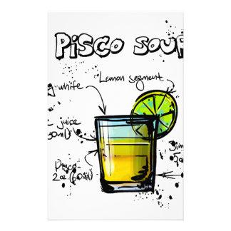 Receta amarga del cóctel de Pisco Papeleria