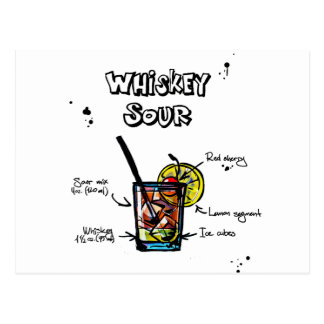 Receta amarga del cóctel de whisky postal