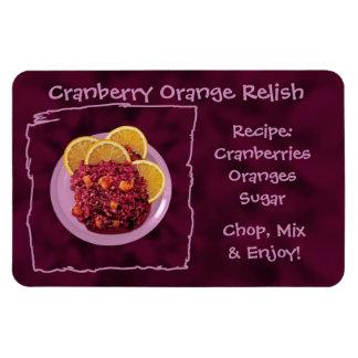Receta anaranjada del condimento del arándano iman rectangular