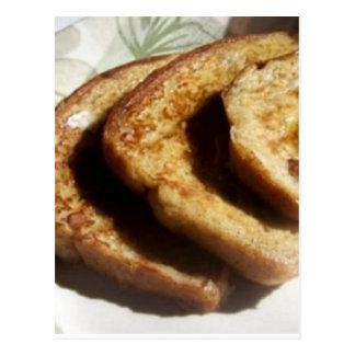 Receta cocida de la tostada francesa postales