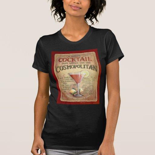 receta cosmopolita del cóctel camisetas