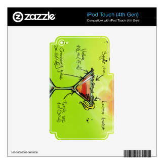 Receta cosmopolita - regalo del cóctel calcomanías para iPod touch 4G