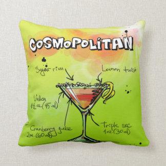 Receta cosmopolita - regalo del cóctel cojín decorativo