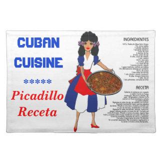 Receta cubana Placemat - Picadillo de la cocina Mantel Individual