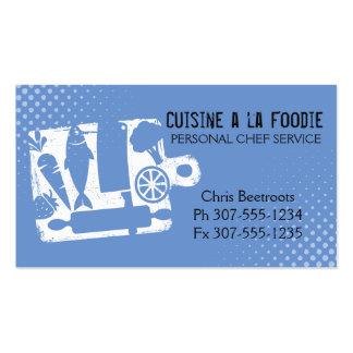 Receta de encargo de los utensilios de la comida tarjetas de visita