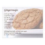 Receta de Gingersnaps Tarjetas Postales