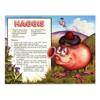 Receta de Haggis Postales