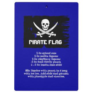 Receta de la bebida de la bandera de pirata
