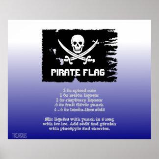 Receta de la bebida de la bandera de pirata impresiones