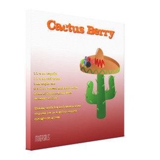 Receta de la bebida de la baya del cactus impresion en lona