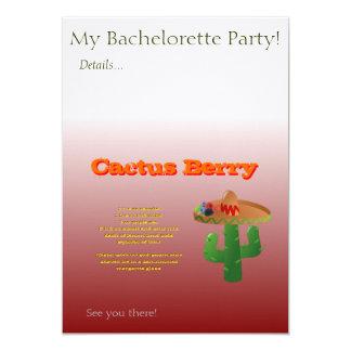 """Receta de la bebida de la baya del cactus invitación 5"""" x 7"""""""