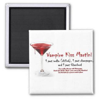Receta de la bebida de Martini del beso del vampir Imán Cuadrado