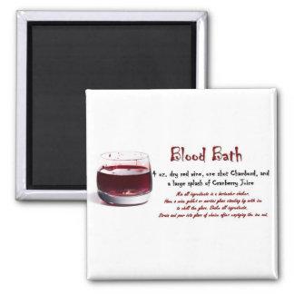 Receta de la bebida del baño de sangre iman de frigorífico