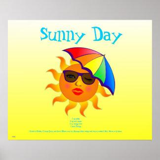 Receta de la bebida del día soleado posters