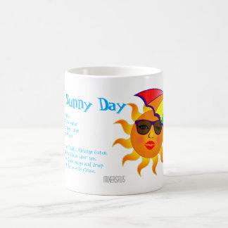 Receta de la bebida del día soleado taza básica blanca