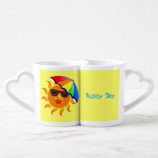 Receta de la bebida del día soleado taza para parejas