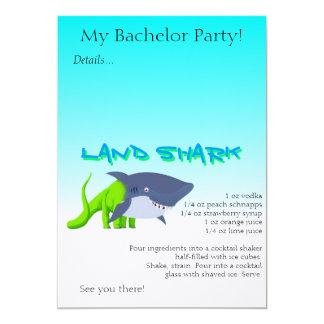 """Receta de la bebida del tiburón de la tierra invitación 5"""" x 7"""""""
