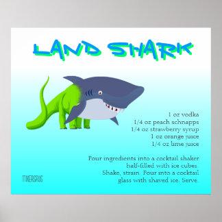 Receta de la bebida del tiburón de la tierra impresiones