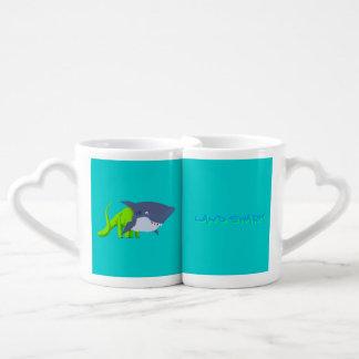 Receta de la bebida del tiburón de la tierra tazas para enamorados