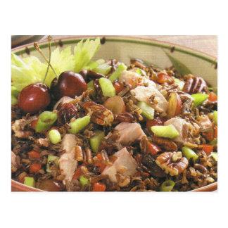 Receta de la ensalada del arroz salvaje de Turquía Tarjeta Postal