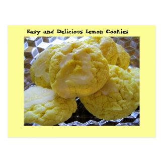 Receta de la galleta del limón postales