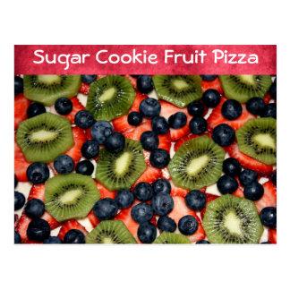 Receta de la pizza de la fruta de la galleta de az tarjetas postales