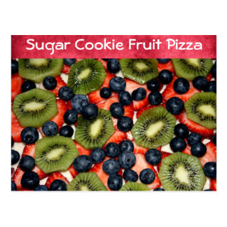 Receta de la pizza de la fruta de la galleta de tarjetas postales