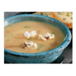 Receta de la sopa del queso de la cerveza tarjetas postales
