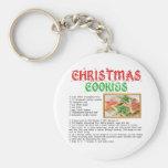 Receta de las galletas del navidad llavero personalizado