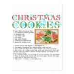 Receta de las galletas del navidad postal