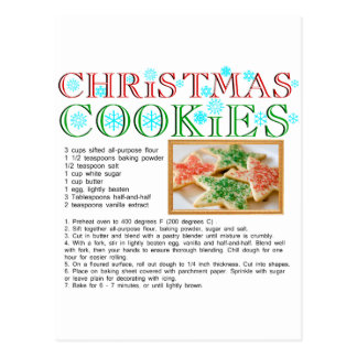 Receta de las galletas del navidad postales