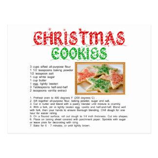 Receta de las galletas del navidad tarjeta postal