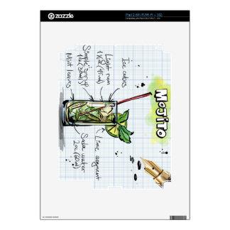 Receta de Mojito - regalo del cóctel iPad 2 Skins
