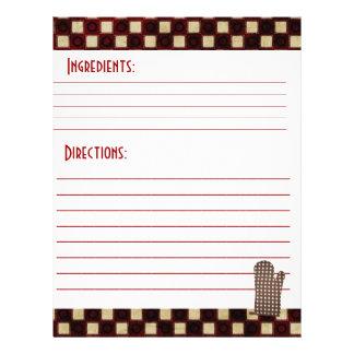 Receta de papel de tarjetas flyer personalizado