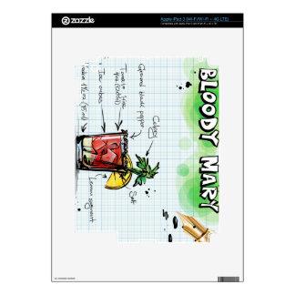 Receta del bloody mary - regalo del cóctel iPad 3 pegatinas skins
