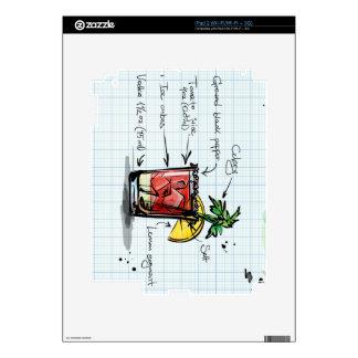 Receta del bloody mary - regalo del cóctel skin para el iPad 2