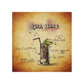 Receta del cóctel de Cuba Libre Cuadros De Madera