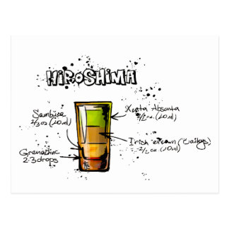 Receta del cóctel de Hiroshima Postales