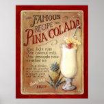 Receta del colada de Pina Posters