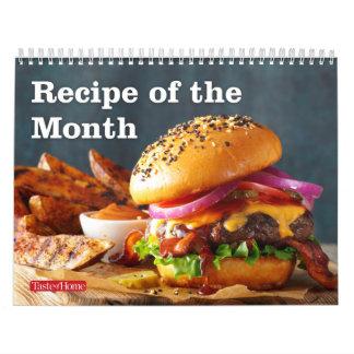 Receta del mes calendario