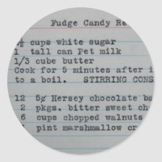 Receta dulce del caramelo del dulce de azúcar de pegatina redonda