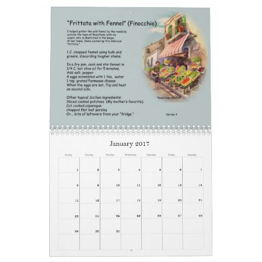 Receta e imágenes de Sicilia Calendarios De Pared