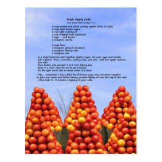 Receta fresca de la tarta de manzanas tarjetas postales