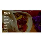 Receta hermosa del Burrito para los amantes de la  Tarjeta De Visita