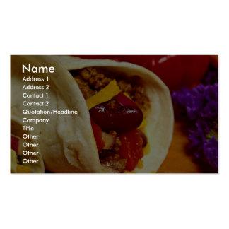 Receta hermosa del Burrito para los amantes de la  Tarjetas De Visita