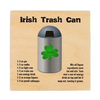 Receta irlandesa de la bebida del bote de basura