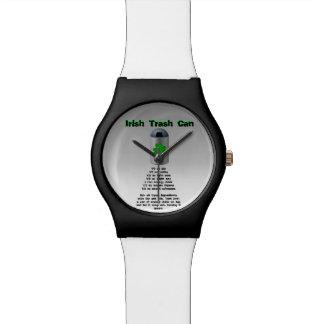 Receta irlandesa de la bebida del bote de basura relojes de pulsera