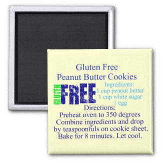 Receta libre de la galleta del gluten imán cuadrado